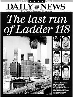 Fdny Ladder 118 : ladder, Covered, Heroic, Actions, Ladder, Brooklyn, Heighs, 9/11., Bridge,, Daily, News,, Hometown
