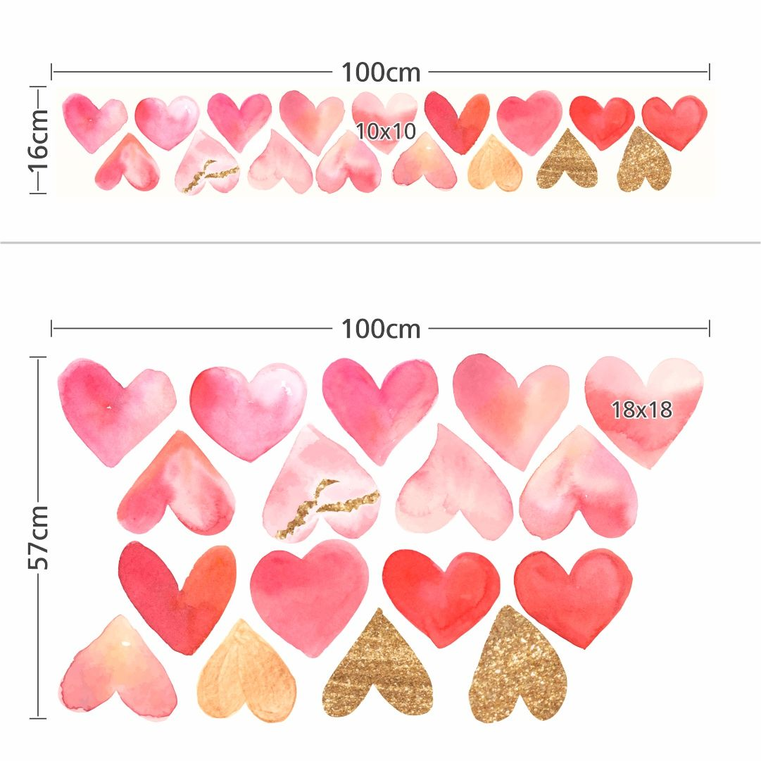 Stickers – Set With Hearts