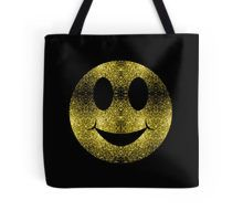 Beautiful Yellow Gold sparkles Happy Smiley Tote Bag by #PLdesign #sparkles #GoldSparkles #SparklesGift