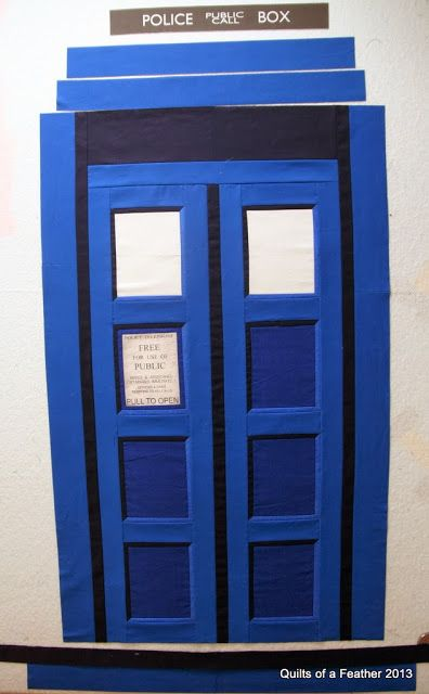 Quilts of a Feather: TARDIS Quilt design