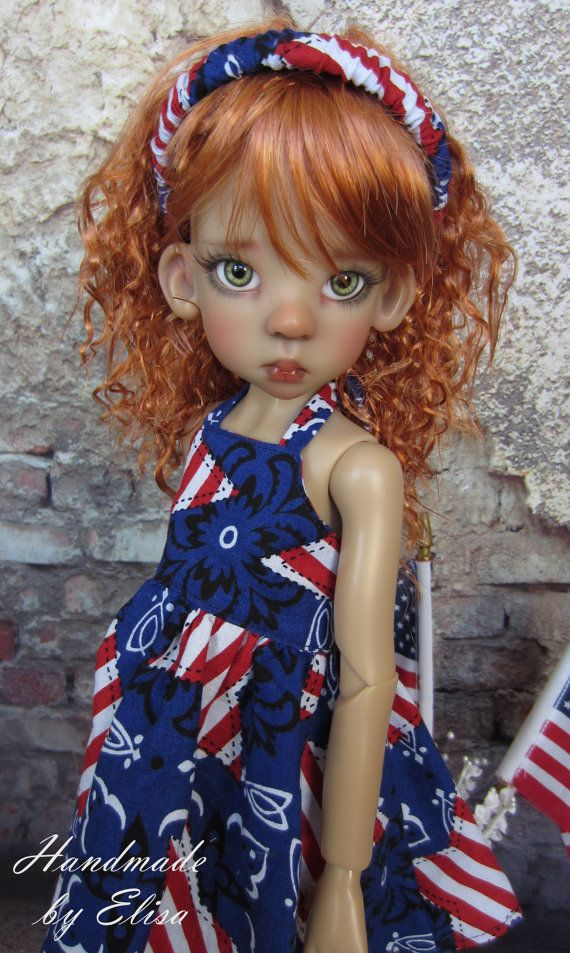 Red White and Blue Stars Dress and by elisasreborncreation on Etsy,