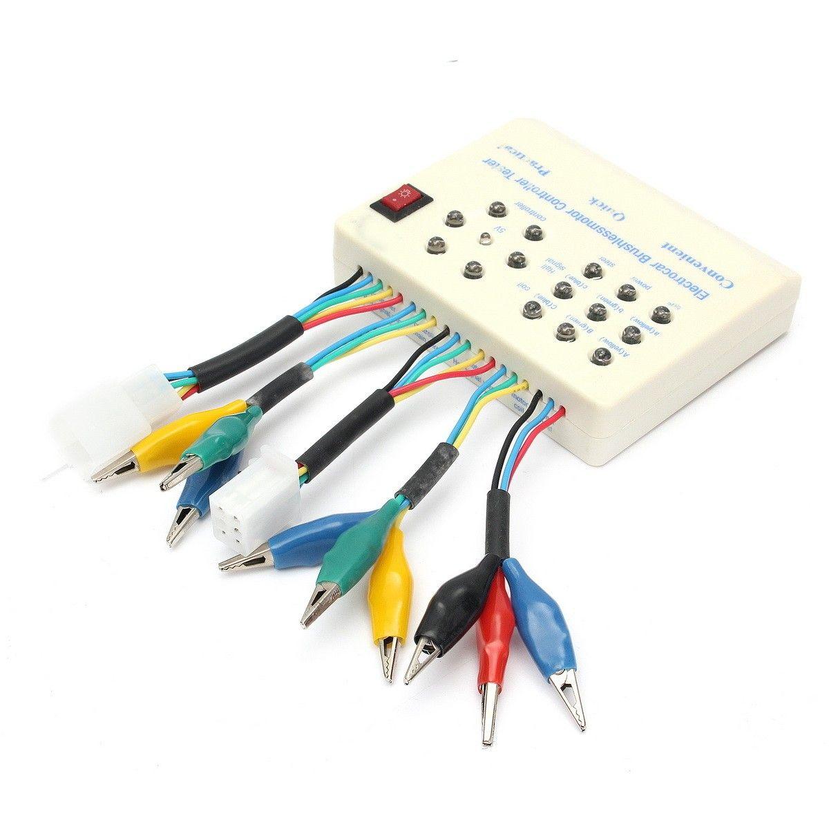 Brushless Controller Testers for Electric Car E-bike Scooter White 24V//36V//48V//60V//72V Motor Brushless RC Car and ESC Tester