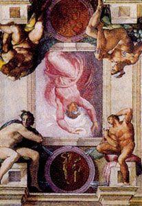 1 Dios Separa La Luz De Las Tinieblas Desde La Biblia En El Cuarto Día Del Génesis Dios Creó Las Pinturas De Miguel Angel Capilla Sixtina Arte Renacentista