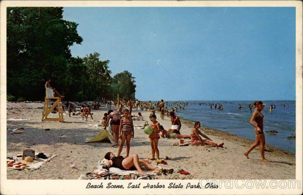 Beach Scene East Harbor State Park Ohio Port Clinton Oh