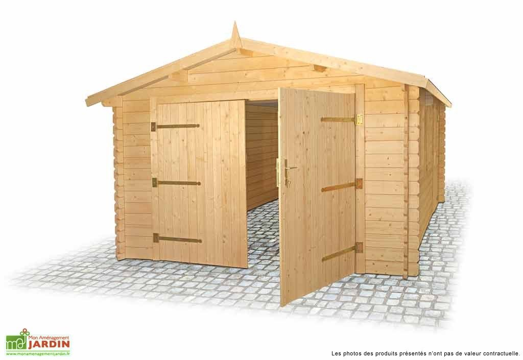 Garage Bois Emboite 34 Mm 3 55x5 35x2 43 Garage Bois Garage Bois En Kit Garage