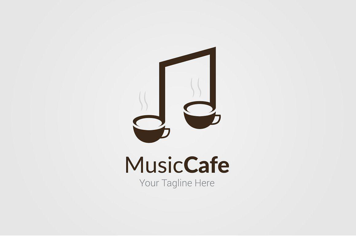 Music Cafe Logo Template Cafe Logo Cafe Logo Design Music Logo