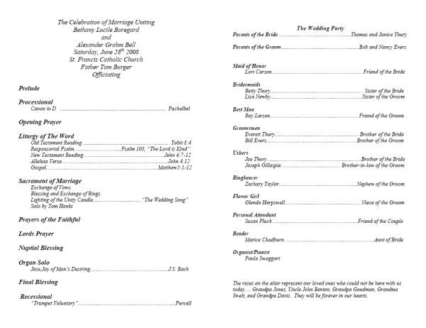 Memorial Service Programs Sample  This Is What Your Template