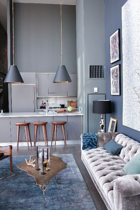 soft blue gray grey interior calming decor stress reducing colour