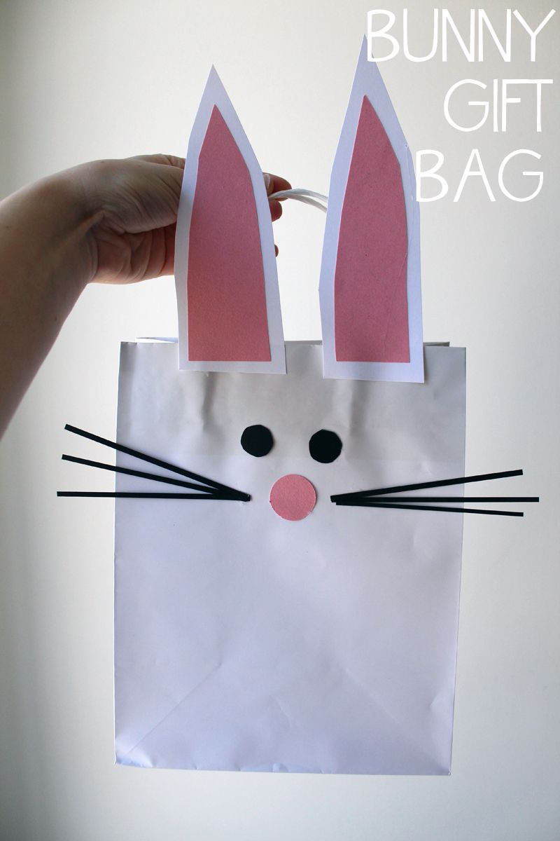 Diy bunny gift bag for easter a great alternative to an easter diy bunny gift bag for easter a great alternative to an easter basket negle Images