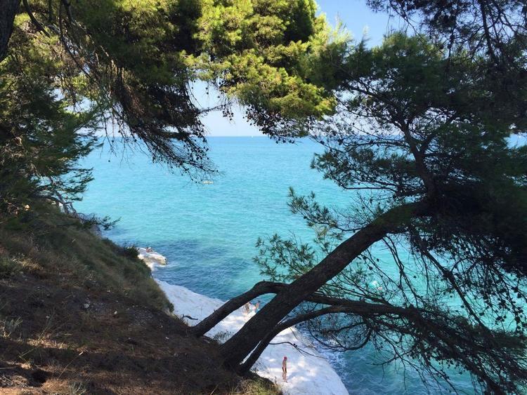 Uitzicht op strand #Sirolo.