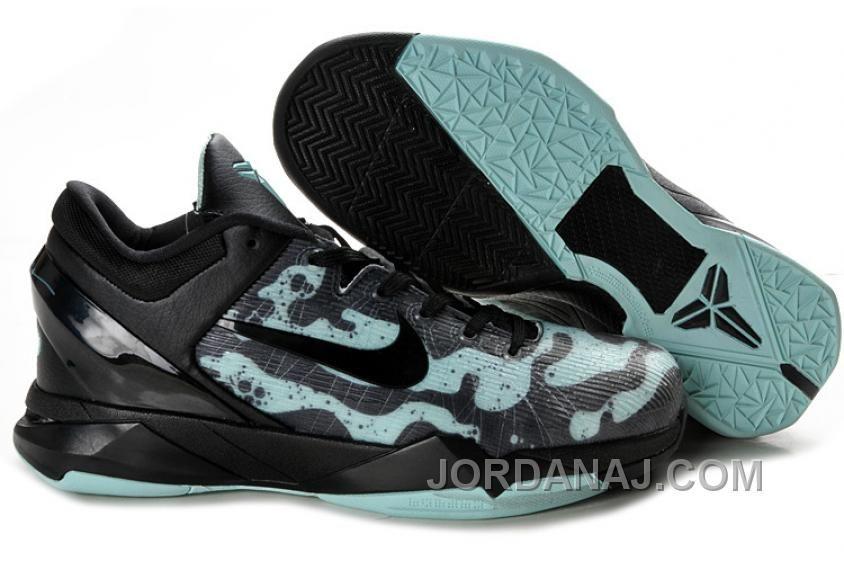 Free Shipping 6070 OFF 854215590 Nike Zoom Kobe 7 VII Shoes Black Cyan