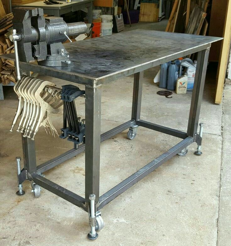 Super Welding Table With Leveling Feet And A Vice By Phil Layne Squirreltailoven Fun Painted Chair Ideas Images Squirreltailovenorg