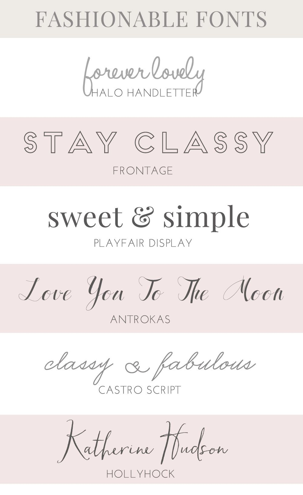 These Lovely Fashion Fonts Would Be Perfect For Use In Your Projects Friendly