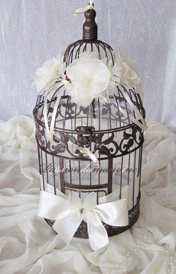 Urne Mariage Cage  oiseaux  4  Dco pour mariage en 2018  Pinterest  Urne mariage Cage