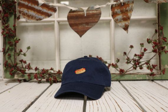 HOT DOG Baseball Hat Low Profile Embroidered by PrfctoLifestyle ... 898dfca91815