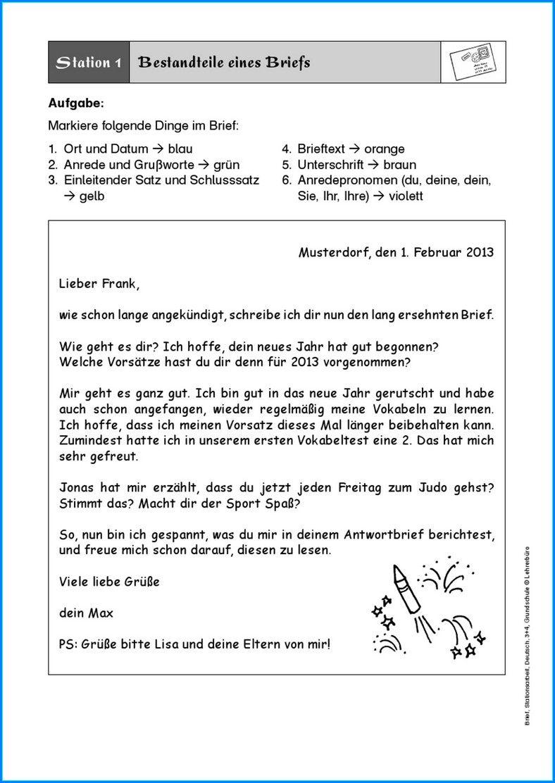 Formeller Brief Schreiben Abstande In 2020 Brief Schreiben Grundschule Briefe Schreiben Brief