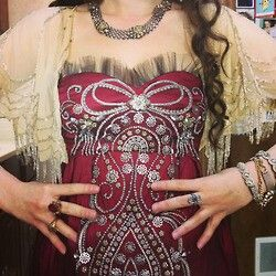 A closer look at one of Lola's dresses in one of the up coming episodes of reign.