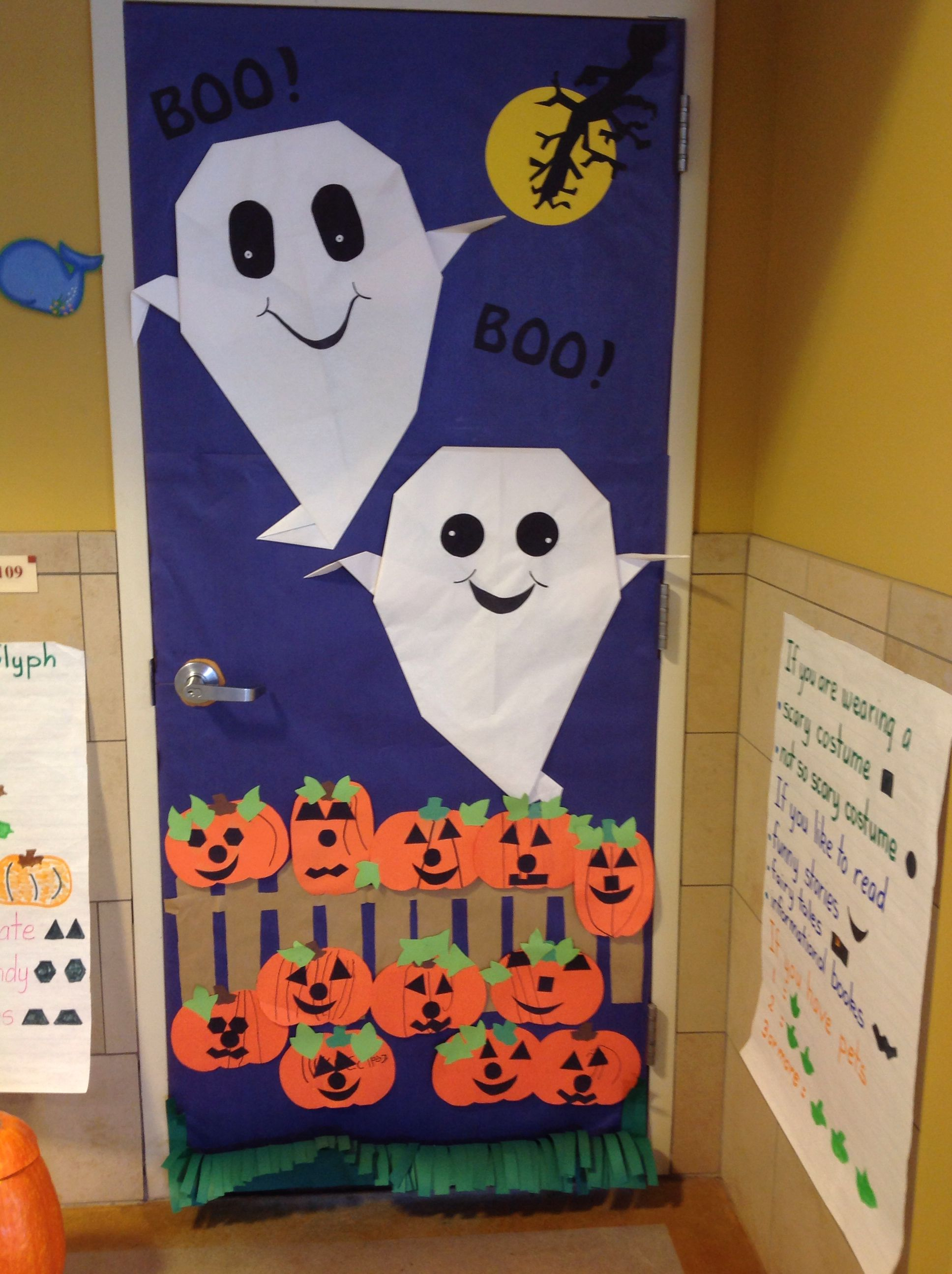 My Door For Halloween Extreme Origami Ghost And Jack O