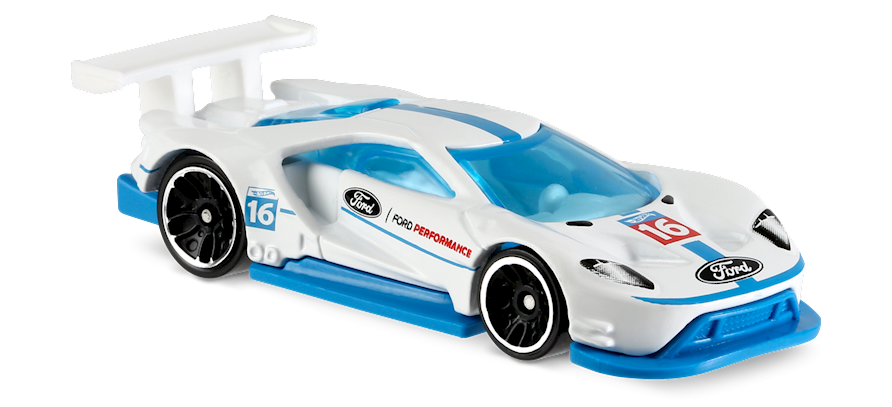 2016 Ford Gt Race In White Hw Speed Graphics Car Collector Hot