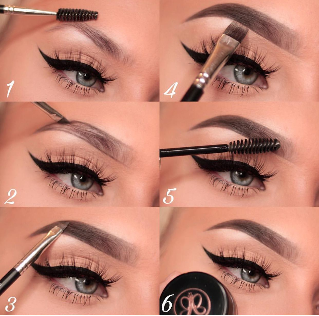 ᵛᴬᴿᵀᴬᴾ Eyeshadow tutorial for beginners, Eyebrow makeup