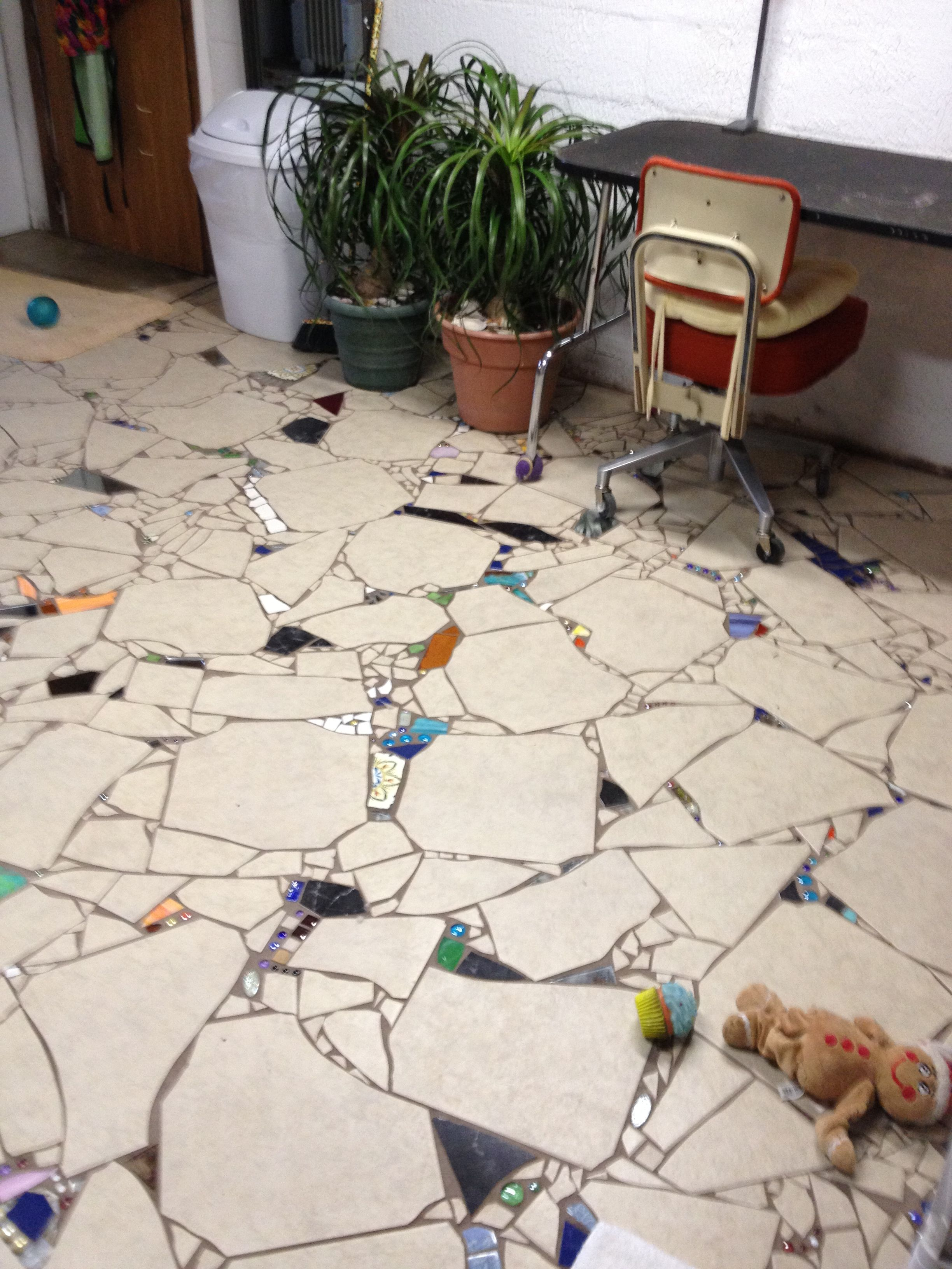 Mosaic floor this is what we had planned to do in our condo mosaic floor this is what we had planned to do in our condo bathroom years ago solutioingenieria Choice Image