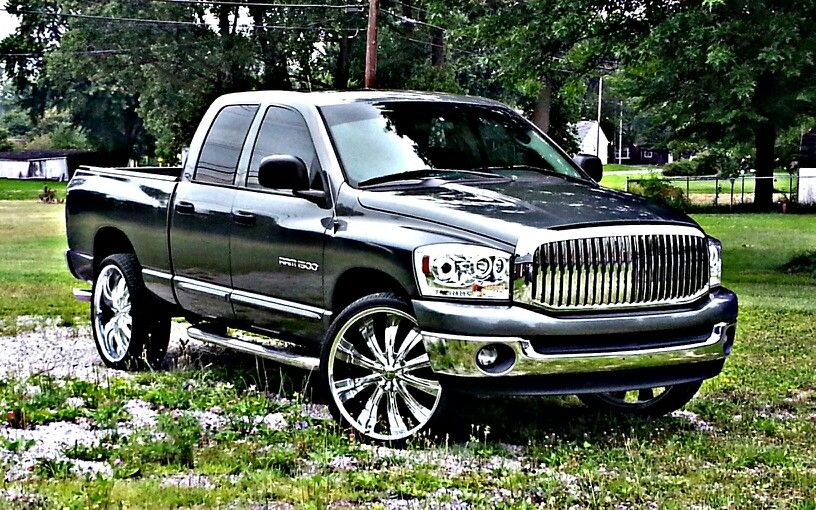 Dodge Ram 1500 2007 26in Rims Aftermarket Everything Grill Led