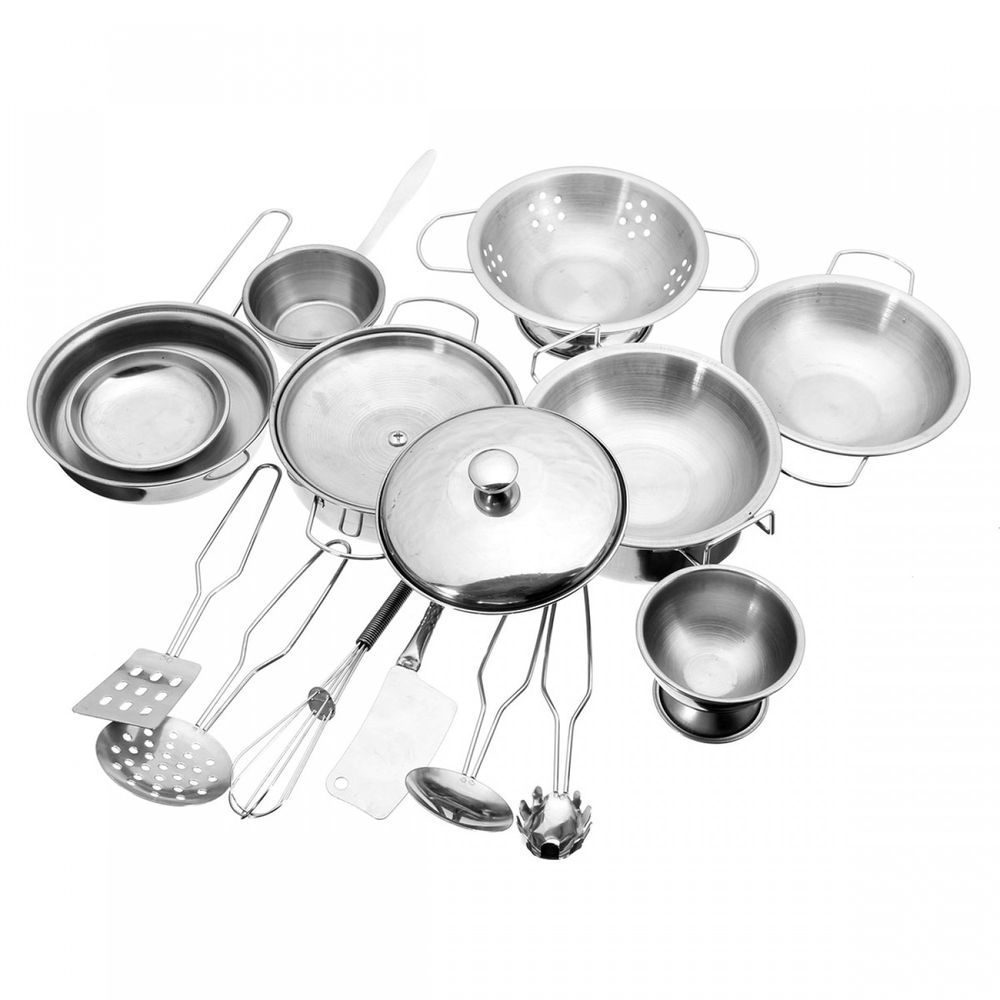 Kids Kitchen Toys Cooking Utensils Pots Pan Food Play House Toy ...