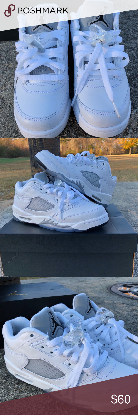 half off 6f83d 4528d Air Jordan 5 Retro Low GG (GS) Size  5.5Y Color  white wolf grey black 2016  release Comes with box   Originally  109 on Flight Club   Message me with  any ...