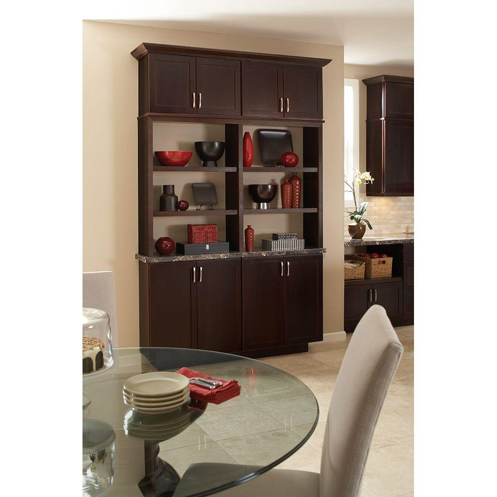 hampton bay shaker assembled 36x36x12 in. wall kitchen