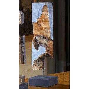 "Reclaimed Mango Wood Sculpture - Doubles as art. Eco-friendly. 22""h."