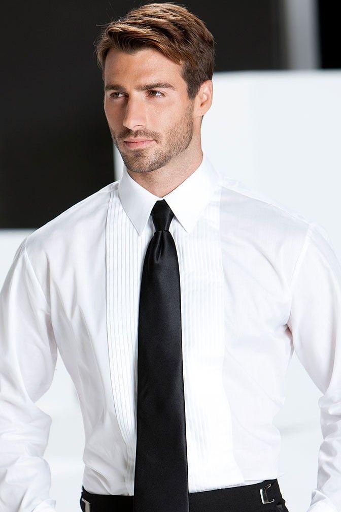 Cardi Mens 100/% Cotton Laydown Collar Fitted Tuxedo Shirt
