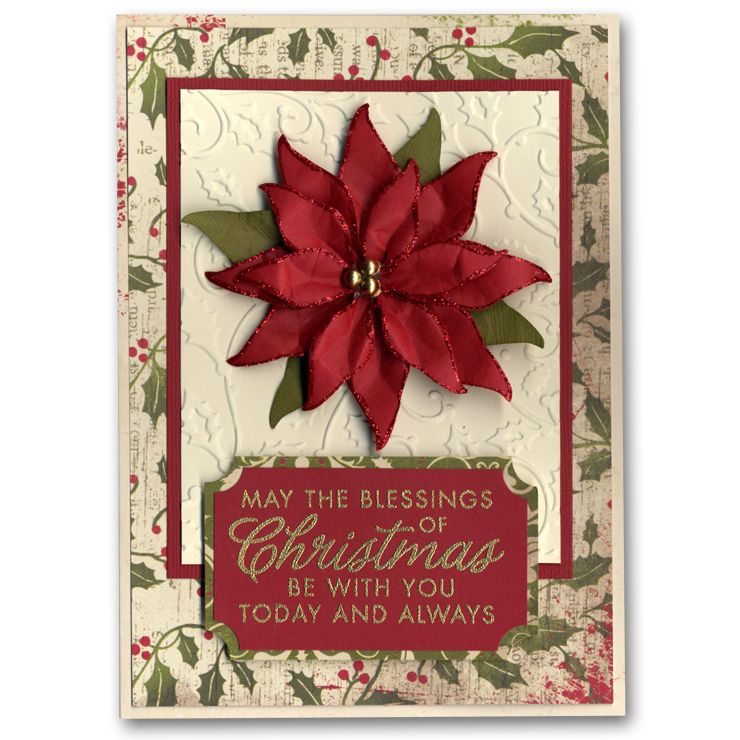 this is the most professional poinsettia card I think I have seen. Looks like it was manufactured. Awesome!