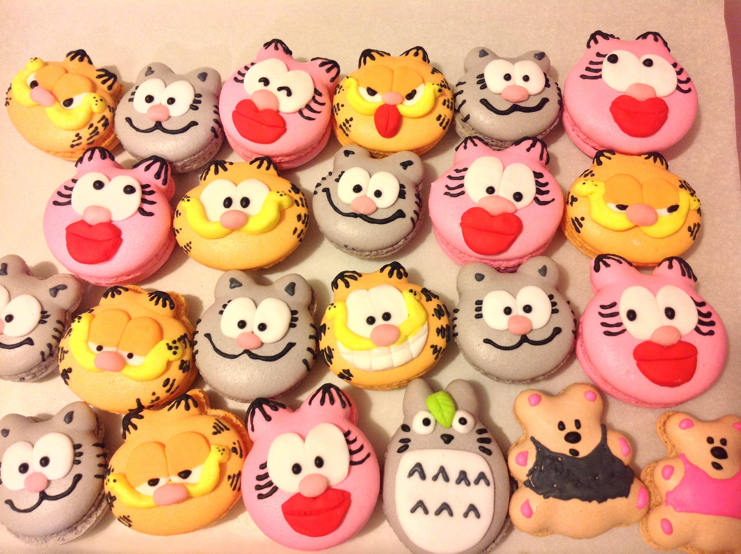 My Garfield Macarons Family