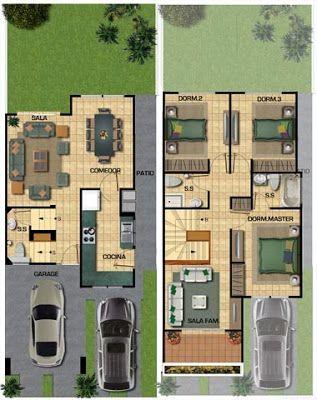 Planos de casa de 141m2 para un terreno de 133 metros for Planos de casas de campo gratis