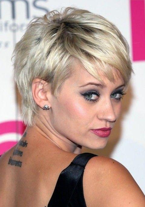 kimberly wyatt short hairstyles: layered pixie haircut | short