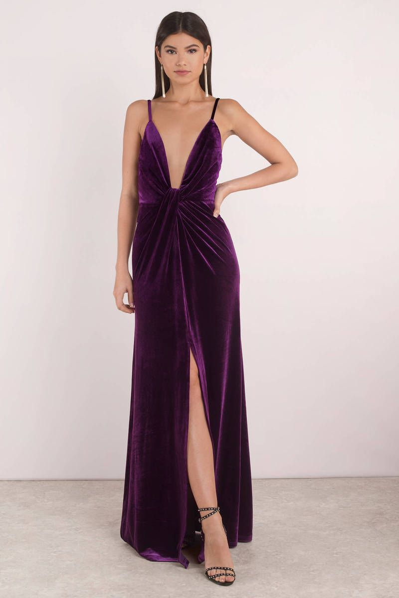 eace43598e4a40 Layla Velvet Plunging Maxi Dress in 2019 | tobi | Dresses, Unique ...