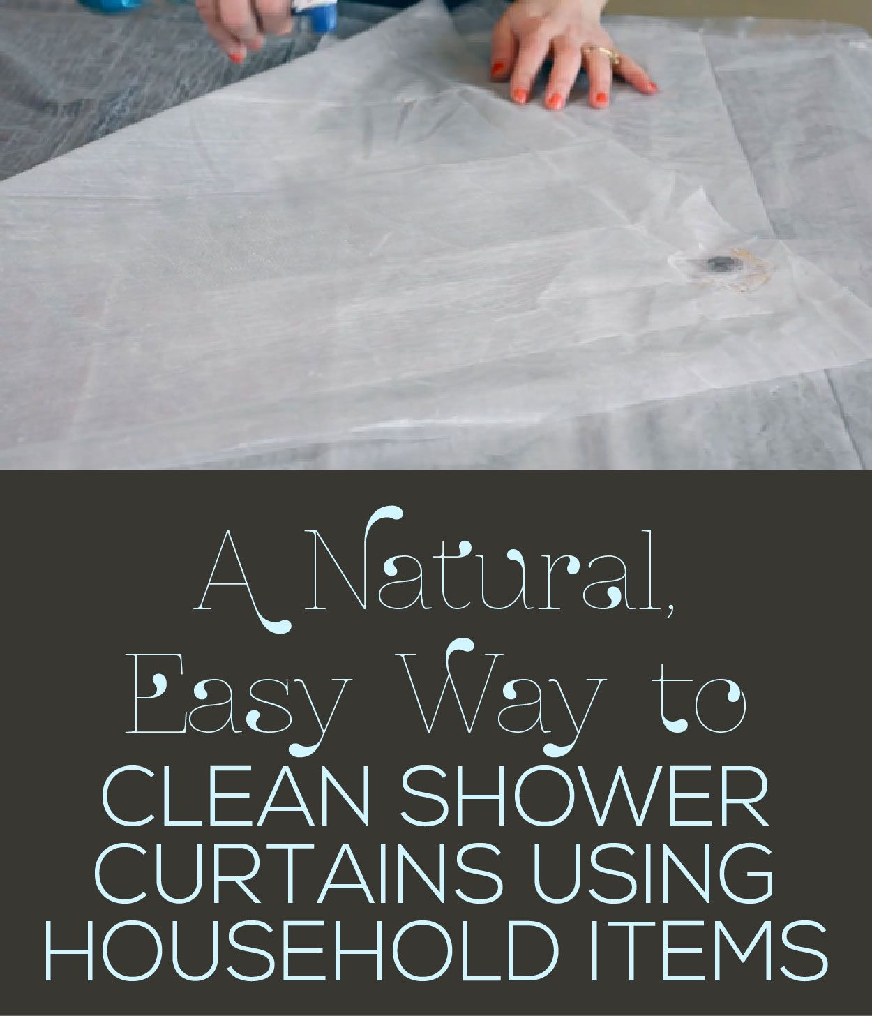 how to clean shower naturally