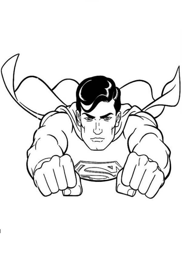 superman adventures of superman coloring page