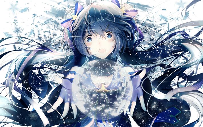 Download Wallpapers K Hatsune Miku Magic Art Manga Vocaloid