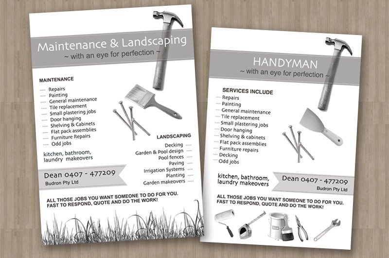Budron Flyer Jpg 800 531 Pixels Flyer Design Lawn Care Business Cards Business Card Design