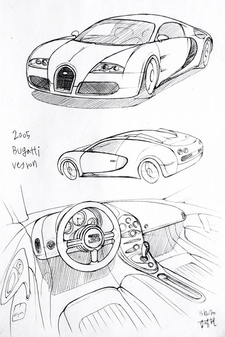 Car Drawing 151220 2005 Bugatti Veyron Prisma On Paper Kim J H Car Drawings Car Drawing Pencil Car Design Sketch