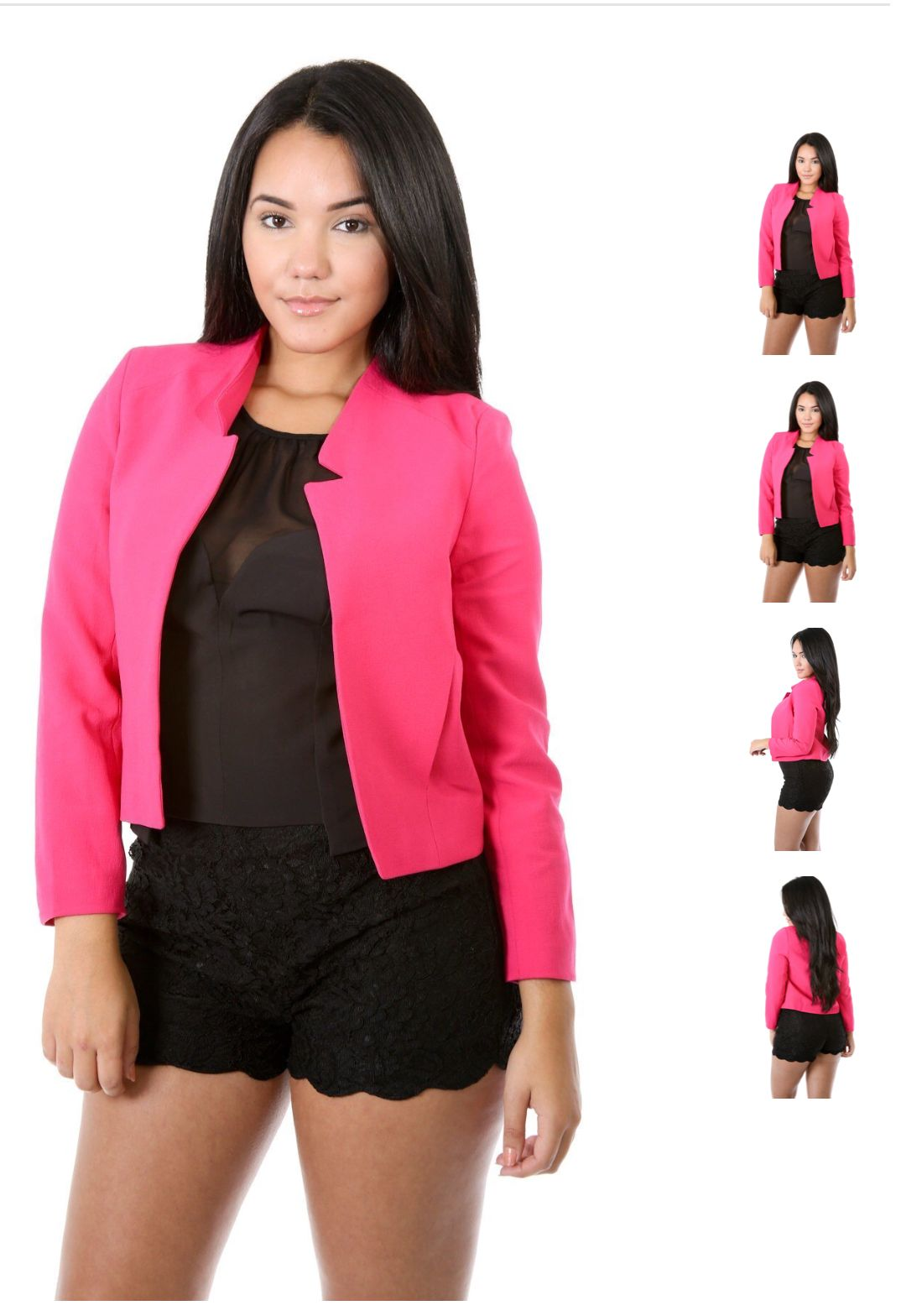 3dacdcce3664 This beautiful blazer comes in hot pink and royal blue. | SlimThick ...