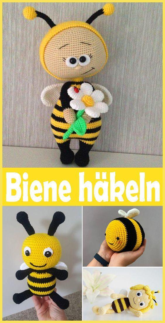 Biene häkeln – kostenlose & einfache DIY Anleitung #scarvesamp;shawls