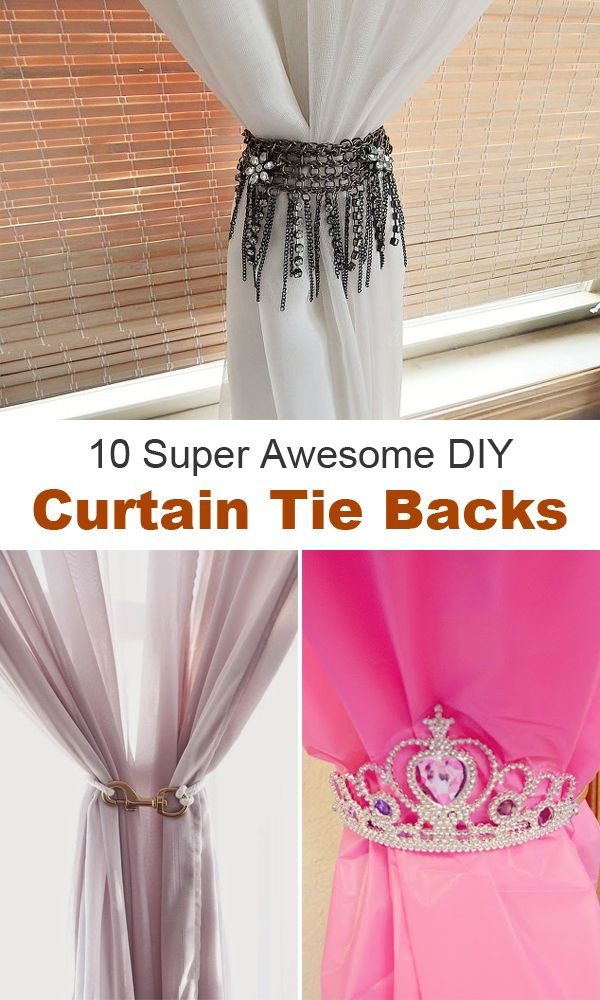 10 Super Awesome Diy Curtain Tie Backs Diy Curtains Curtain Tie