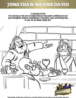 1 Samuel 20 David And Jonathan Sunday School Coloring Pages Your