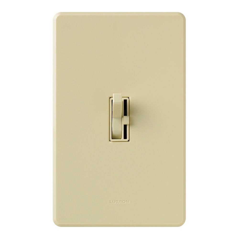 Lutron Toggler 600 Watt Single Pole Magnetic Low Voltage Dimmer Ivory Led Dimmer Night Light