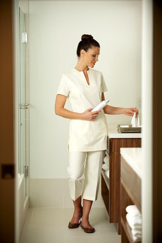 Saphora spa trouser cream in 2019 spa ideas salon for Spa uniform female