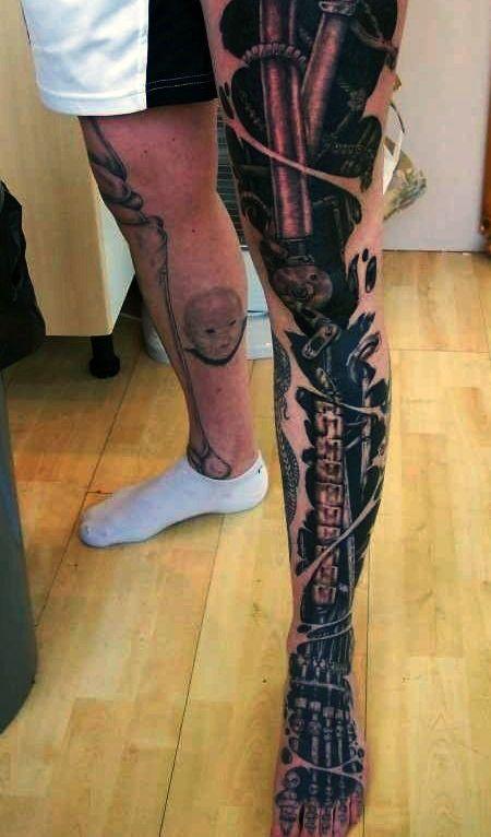 2fe2b161dee81 50 Mechanic Tattoos For Men - Masculine Robotic Overhauls | Tattoos ...