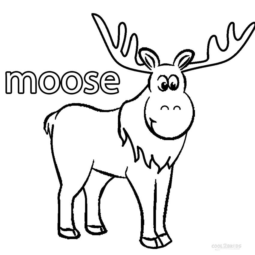Cartoon Moose Coloring Pages For Free Cartoon Moose Coloring