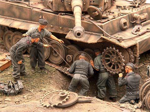 Reparacion de un Tiger en Combate - Escala 1/35